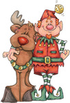 ������ Rudolph and Elf (394x576, 80Kb)