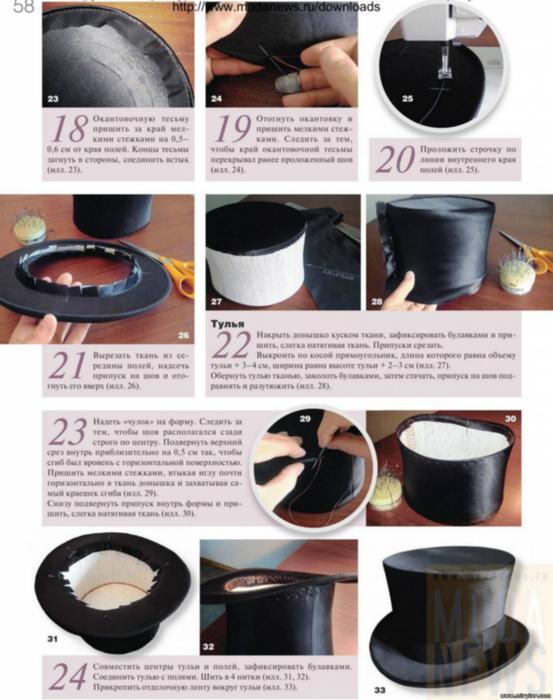 Как сделать шляпу цилиндр из бумаги своими