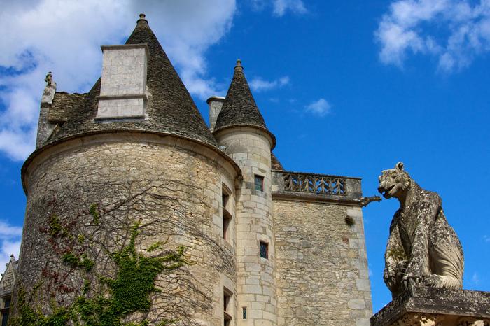замок в Миланде (Chateau des Milandes). 28259