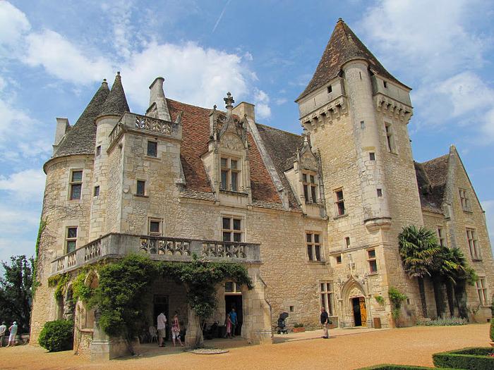 замок в Миланде (Chateau des Milandes). 43401