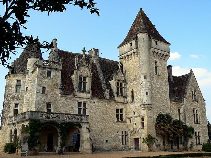замок в Миланде (Chateau des Milandes). 68437
