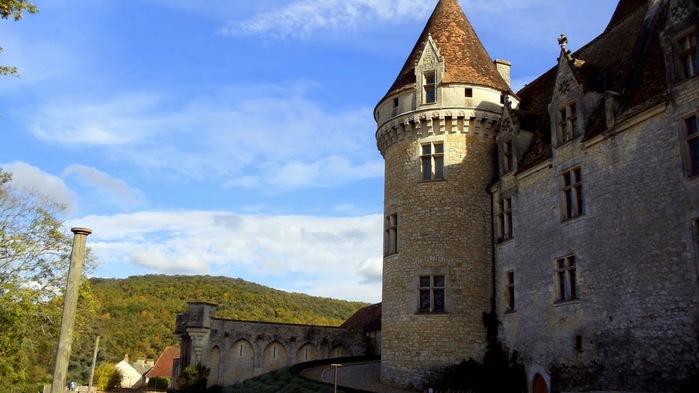 замок в Миланде (Chateau des Milandes). 49811