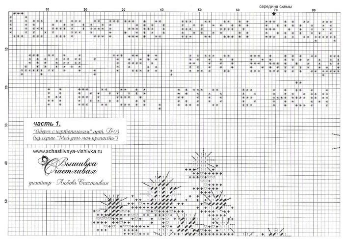 Схема вышивки крестом обереги для дома 44