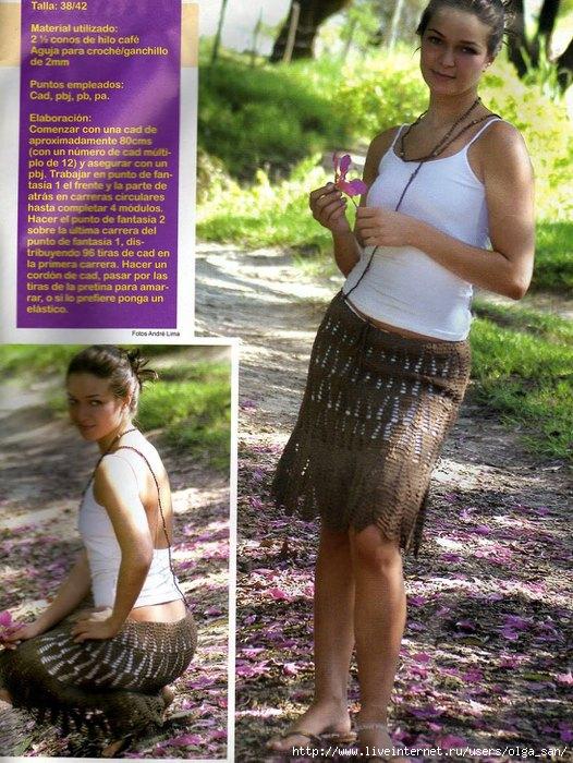 вязаные летние юбки крючком со схемами - Сделай сам!