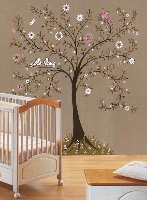 Про оформление стен в детской комнате