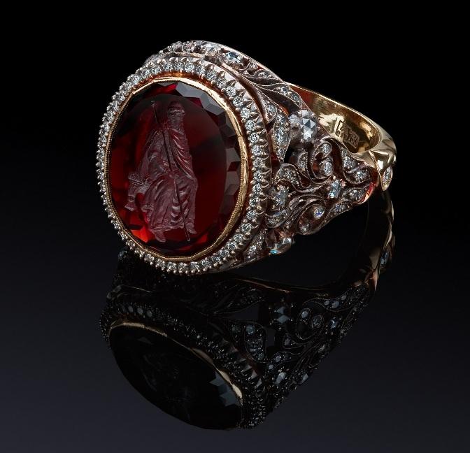 мужские серебряные кольца с молитвой купить