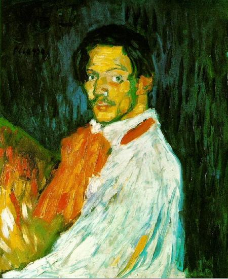 Автопортрет - Я, Пикассо. 1901 г (450x550, 108Kb)