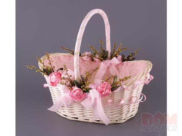 Оформление корзины своими руками цветами