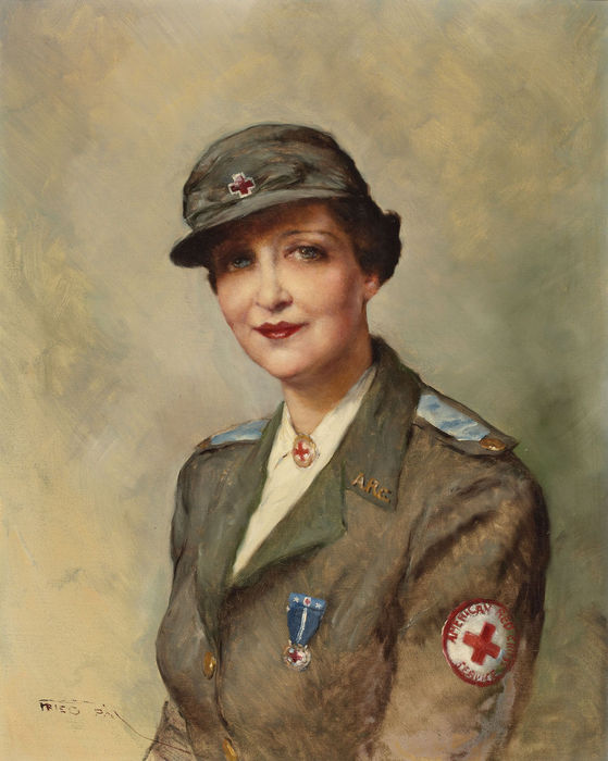 American Red Cross Service Woman (559x700, 60Kb)