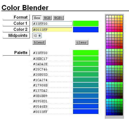 Программа для смешивания цветов