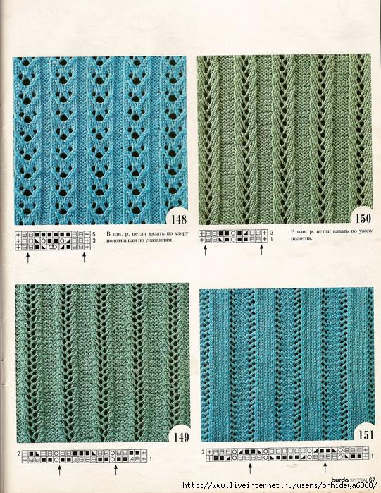 Модные схемы вязания для женщин 73