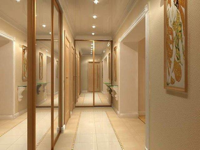 Дизайн длинных коридоров в квартирах