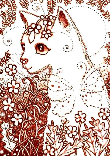 HAE ECQS 1921 QS Pooka Meadow Cat Elaine Cox 165x235 - HAE Графика и Силуэты - Картинки photoshare.ru.
