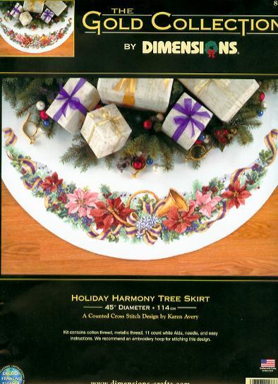 Dimensions 8671 Holiday Harmony Tree Skirt (394x544, 47Kb)