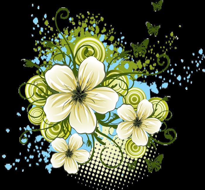 Векторные картинки цветов 4