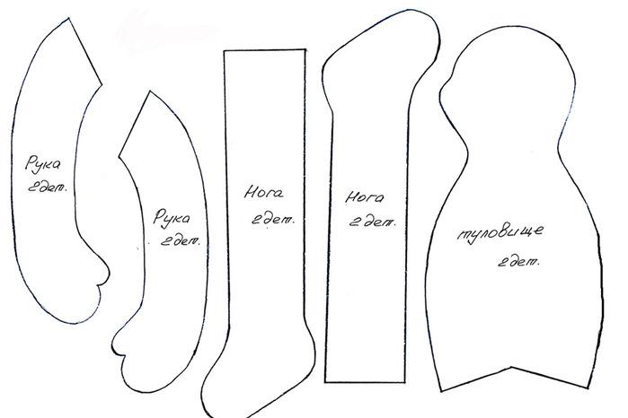 Изготовление куклы тильды выкройка