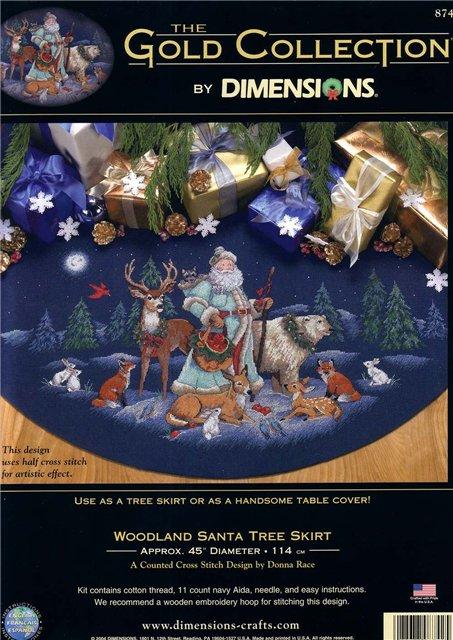 Dimensions 8742 Woodland Santa Tree Skirt  (453x640, 87Kb)