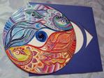 Превью выставка, акрил, знак зодиака, рыбы, Shraddha (700x525, 351Kb)