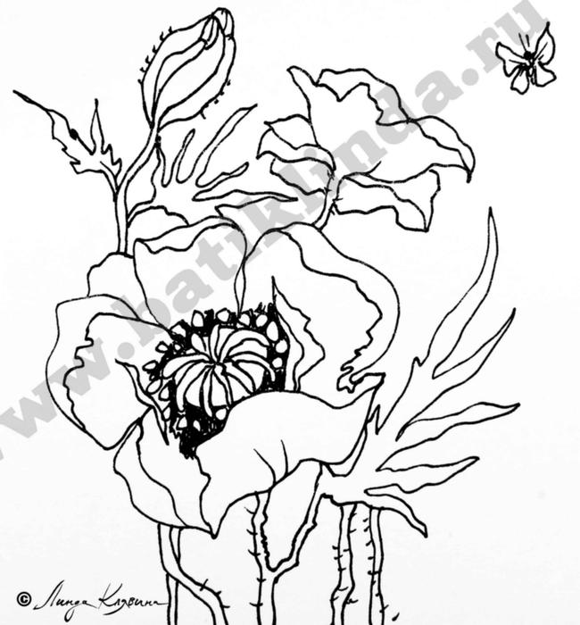 Картинки цветов для батика 8