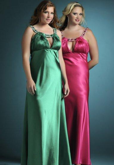 Вечерние платья для полных дам.  Цветное свадебное платье фото.
