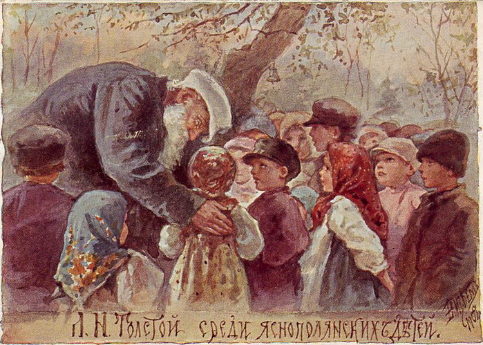 АртРу.инфо - Иллюстрации - Л. Н. Толстой среди яснополянских…