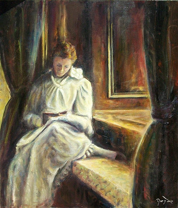 Daryl Lex Price – Irish Girl Reading (597x700, 397Kb)
