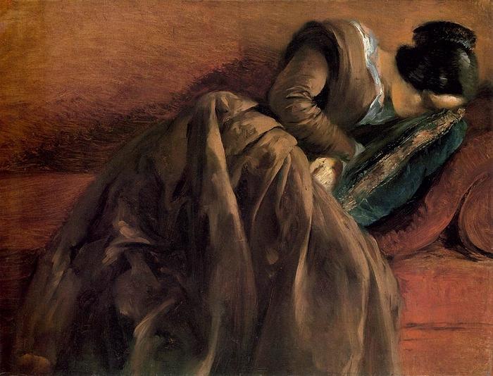 Adolph Von Menze.Sister Emily Sleeping l, 1848 (700x534, 306Kb)