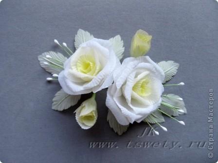Мастер класс цветы из ткани белая