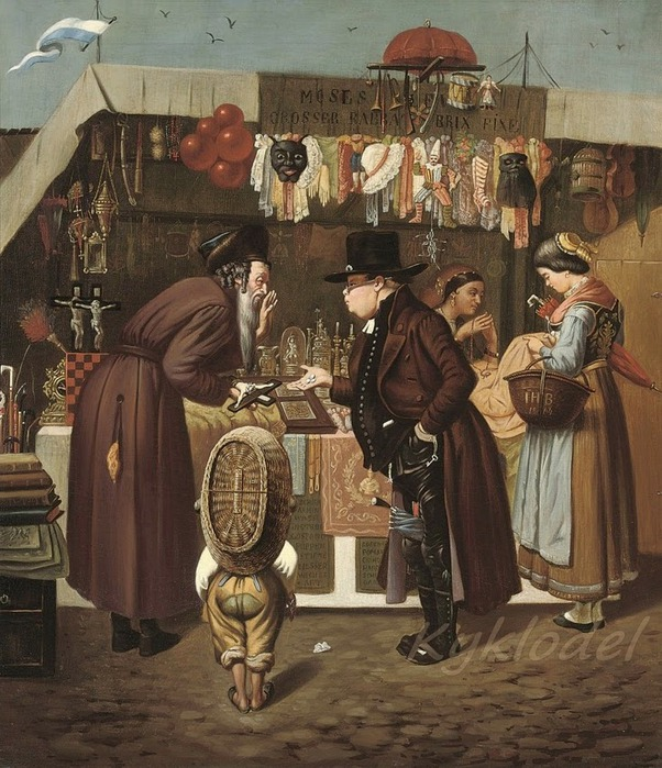 Isidor Kaufmann (Austrian, 1853-1921) «Bartering at the market» 1864 (602x700, 153Kb)