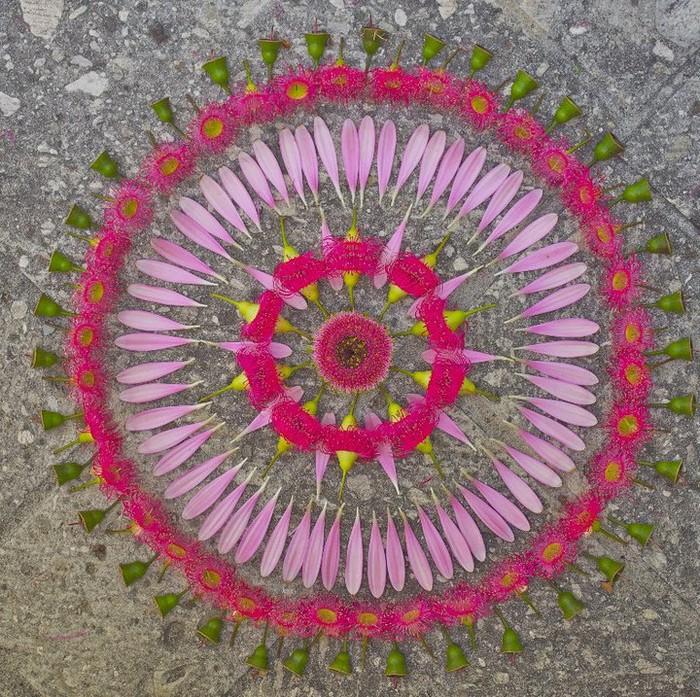 Данмала   мандала из цветов, листьев, овощей и фруктов
