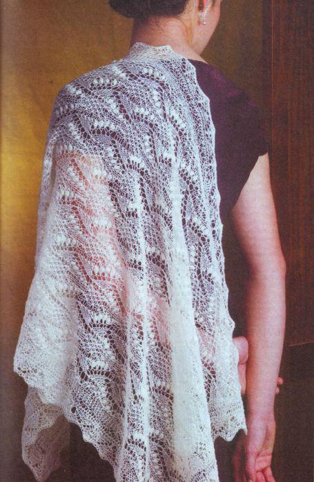 Схема вязания платка спицы.
