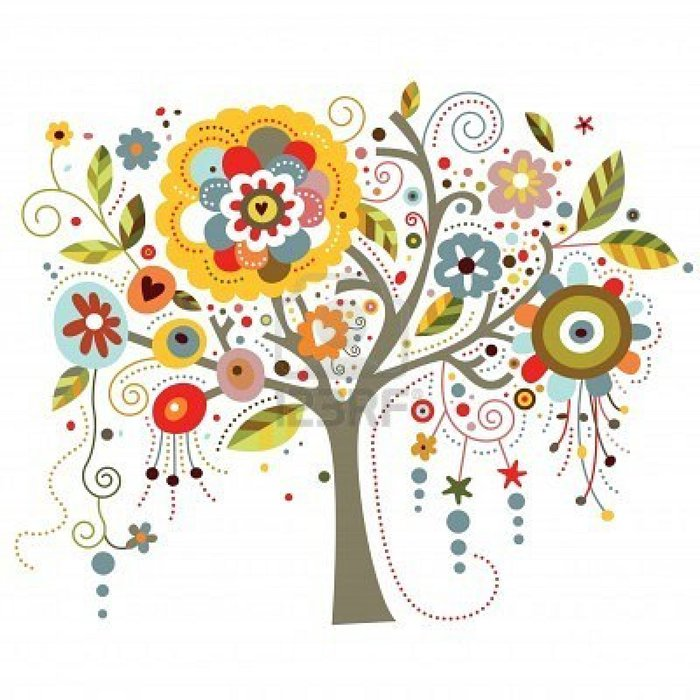 7615558-a-tree-richly-adorned-with-whimsical-flowers (700x700, 90Kb)