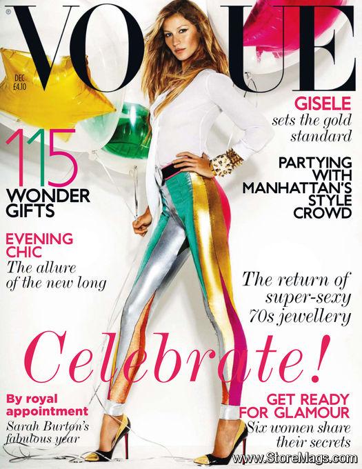 Жизель Бюндхен на обложке Vogue UK December 2011