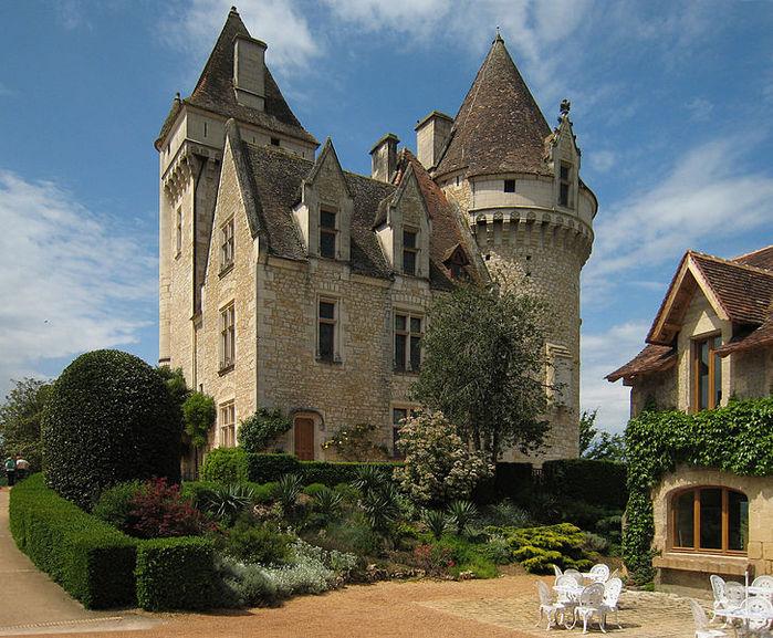 замок в Миланде (Chateau des Milandes). 74891