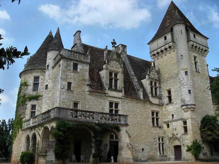 замок в Миланде (Chateau des Milandes). 90023