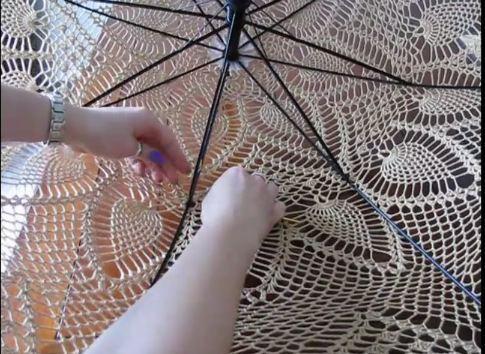 вязанный зонт - Самое