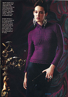 Пуловер с воротником-стойкой (220x315, 48Kb)