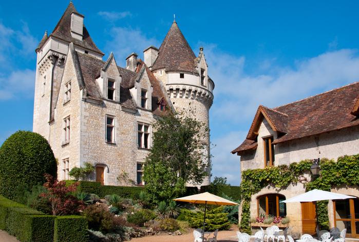 замок в Миланде (Chateau des Milandes). 42921