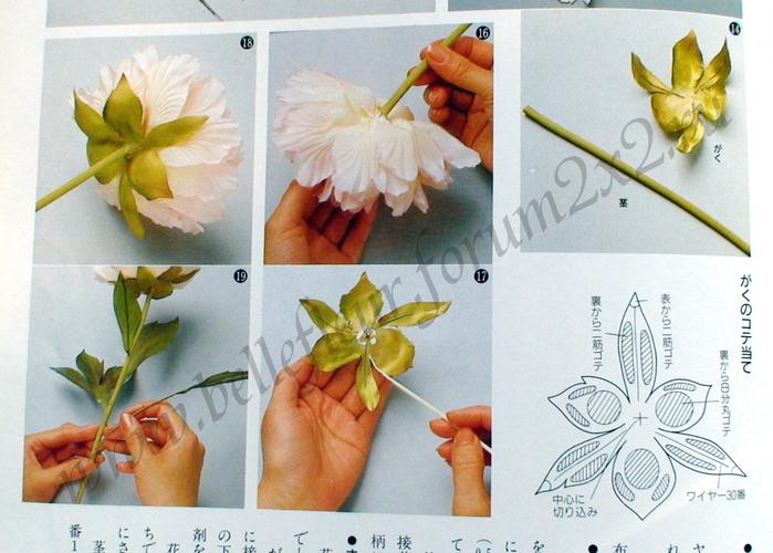Цветы из ткани для начинающих пошагово с