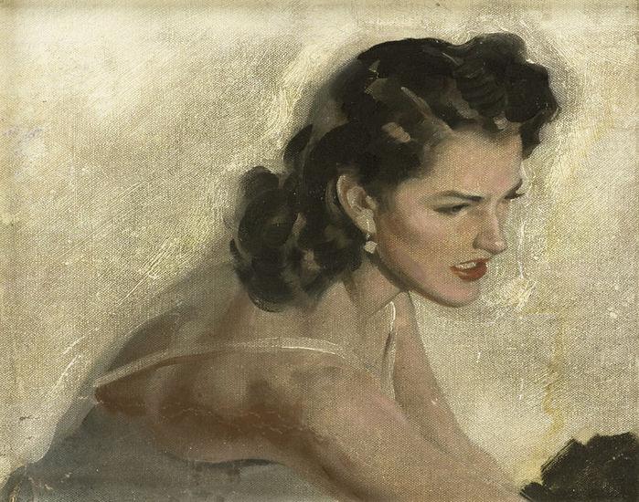 Portrait of a Brunette (700x550, 105Kb)