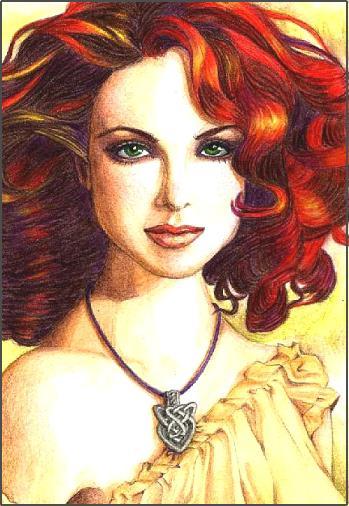 Картинка нарисованная девушка рыжая