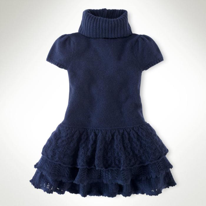Выкройка вязаного детского платья 8