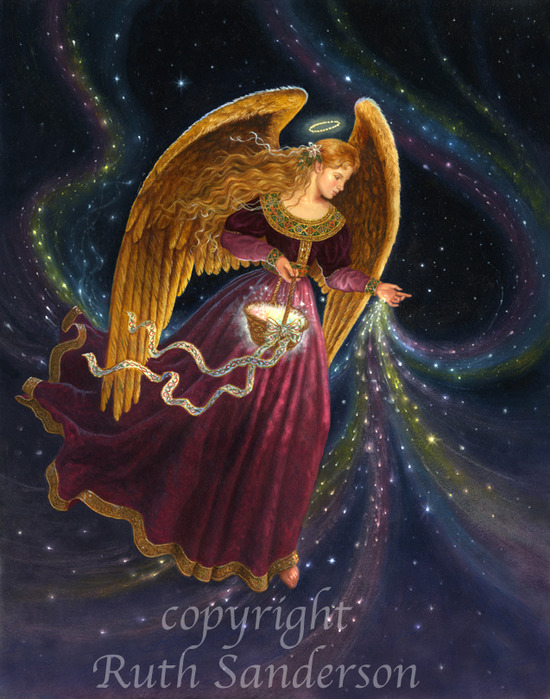 CA105_Angel with Rainbow Stars (550x700, 149Kb)
