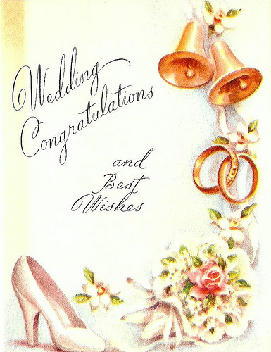 Пол года Скачать 83 винтажные свадебные открытки.