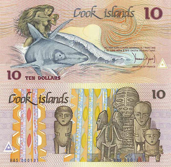 Острова Кука, 10 долларов Островов Кука (700x683, 181Kb)