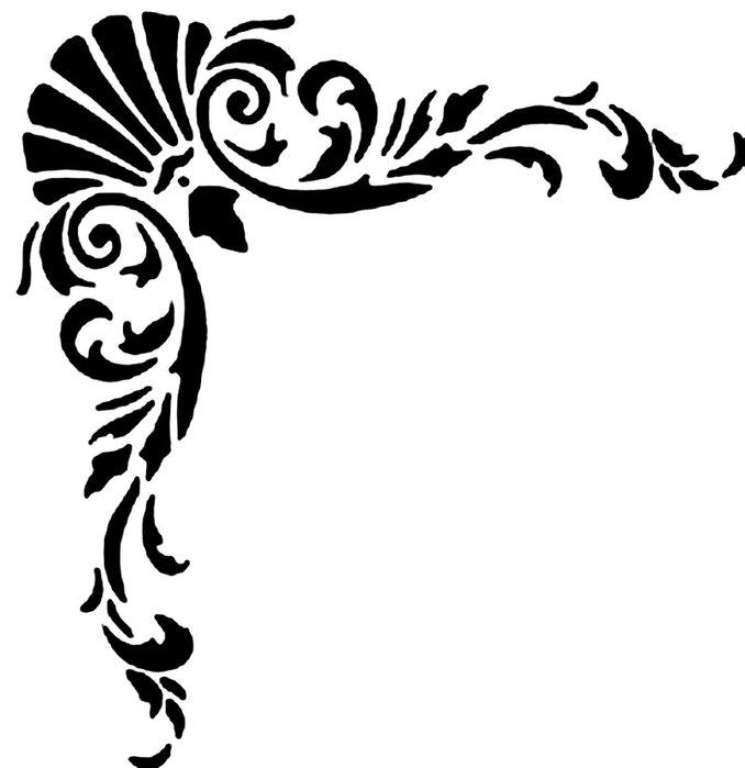 Угловые трафареты для росписи и декоративных работ МОЙ МИЛЫЙ ДОМ - идеи рукоделия, вязание, декорирование интерьеров