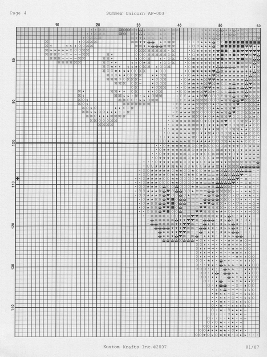 Вышивка крестом единорог монохром схема 60