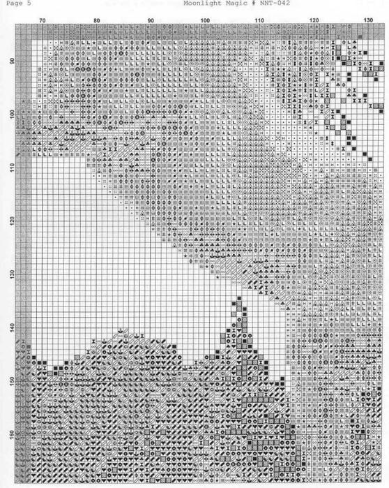 Единорог на скале*схема