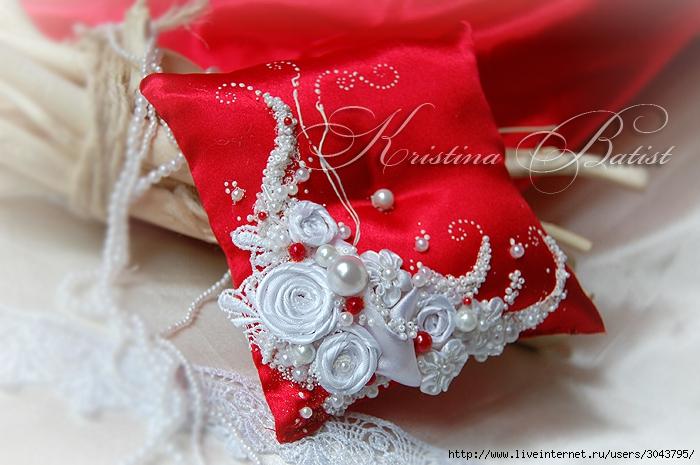 """Комплект """"Нежность"""" для красно-белой свадьбы, свадебные бкалы, красная свадьба, свадебное ампанское, подушечка для колец, папка для свидетельства о браке"""