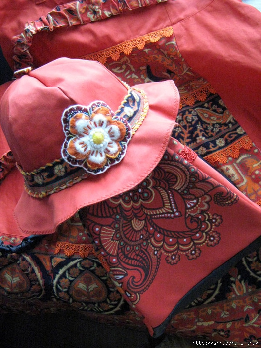 юбка, шляпа, сумка hand made, автор  Shraddha (3) (525x700, 304Kb)